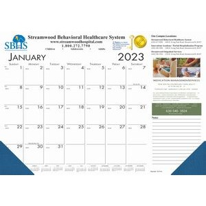 Full-Color Compact Desk Pad Calendar w/2 Corners