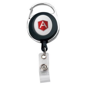 Oval Metal/ Plastic Carabiner Retractable Badge Reel