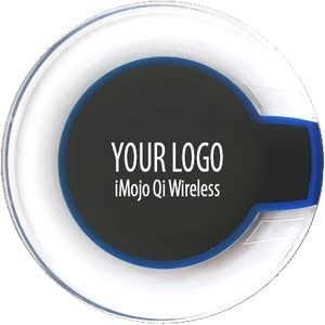 iMojo Qi Desk Wireless Charger 1701 (Blue on Black)